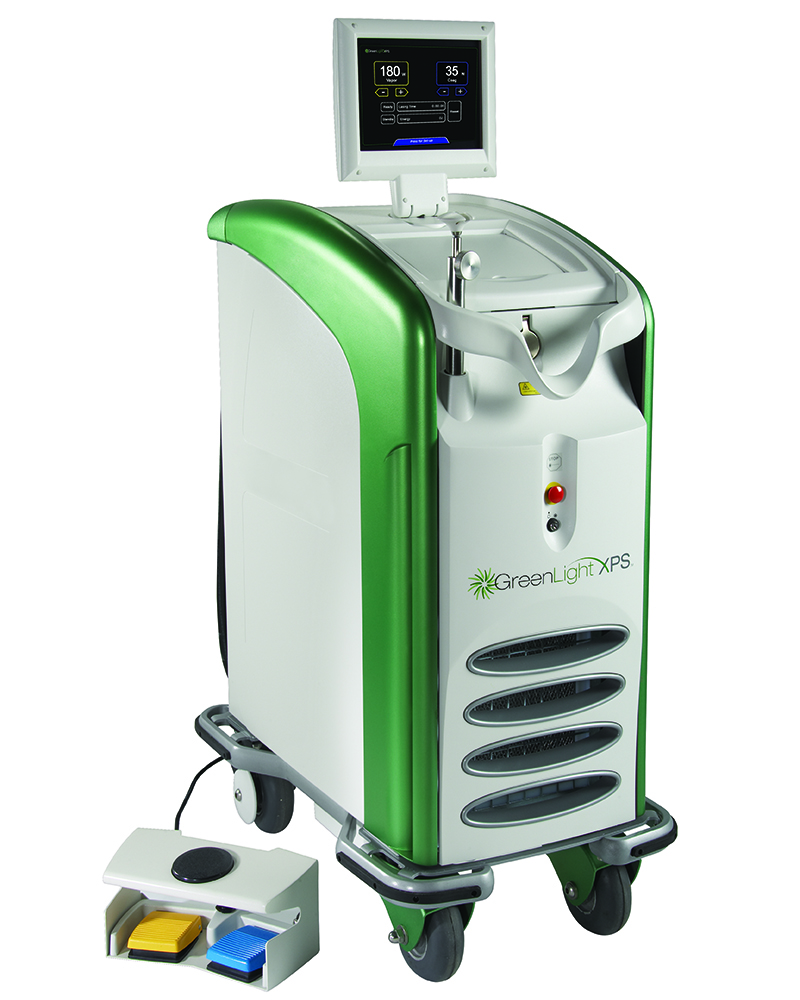 The Greenlight XPS System machine on rolling base.